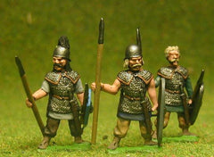 BT4 Heavy Spearmen in Mail, at the ready, assorted heads