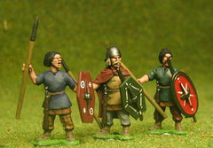 BT5 Medium Spearmen, at the ready, assorted heads