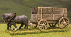C&W6 War Wagon with double planked sides to protect potential crewmen, with 2 horses
