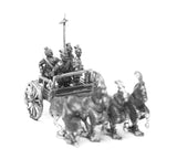 CHN4 Chin Chinese: General in four horse chariot with archer and halberdier