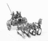 CHN6a Chin Chinese: Four horse chariot with driver, archer and spearmen (unarmoured horse)