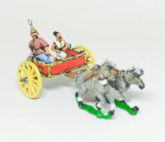 CHO2 Shang or Chou Chinese: Two horse Light Chariot with General and driver