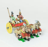 CHOE4 Shang or Chou Chinese: Four horse Heavy Chariot with General, driver and spearman