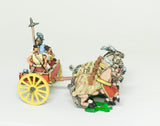 CHOE7a Shang or Chou Chinese: Four horse Heavy Chariot with driver, archer and halberdier