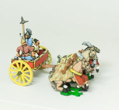 CHOE5 Shang or Chou Chinese: Four horse Heavy Chariot with General, driver and halberdier