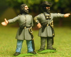 CON5 Confederate Infantry: Officers at ease (assorted)