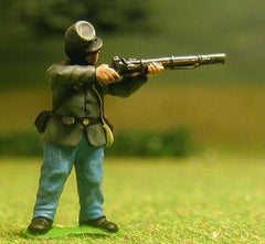 CON2 Confederate Infantry: Firing, in Sack Coat (assorted)
