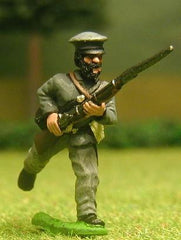 CON4 Confederate Infantry: Charging, in Sack Coat (assorted)