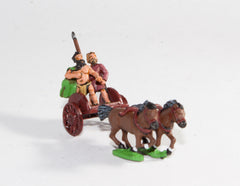 CPA2 Caledonian & Pictish: Two horse Chariot with javelinman & driver