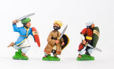 CRU11 Arab swordsmen with kite shield, assorted pose
