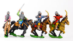CRU50 Armoured Horse Archer with separate shield.  Suitable for most Middle-Eastern armies, assorted poses.