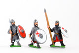 CRU56 Frankish Knights on foot, Round Shields, assorted