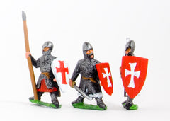 CRU57 Frankish Knights on foot, Large Shields, assorted