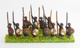 CRU5 Arab spearmen with round shields, assorted poses