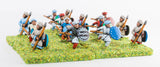 CRU7 Arab spearmen/javelinmen with round shields, assorted poses