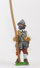 ECW54 Generic ECW/30YW Infantry: Pikeman, Back & Breast Plates, Tassets, assorted Helmets, at ease