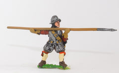 ECW56 Generic ECW/30YW Infantry: Pikeman, Back & Breast Plates, Tassets, assorted Helms, with Pike forward