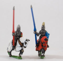EMED12a Polish 1350-1480: Mounted Knights, 1380-1440AD in Jupon & Helmetson Barded Horse