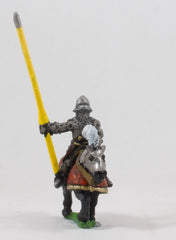 EMED14a Polish 1350-1480: Mounted Knight 1400-1480 in Plate Armour, shieldless, on Armoured Horse