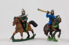 EMED62 Persian 1350-1500: Command: Two Mounted. Officers & Trumpeter