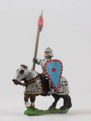 EMED69a Serbian Empire: Knights 1400-1500 in Plate Armour with Lance & Shield on Armoured Horse