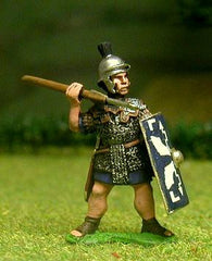 EXR14 Early Imperial Roman Legionary in mail with shield and pilum