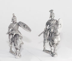 EXR32 Heavy Cavalry in Scale Armour with Oval Shield & Lance