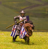 F5 Early Medieval: Mounted Knight c.1270 in mail with breastplate & kettle helm