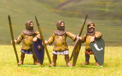 F12 Early Medieval: Spearman with Kite Shield & Padded Jack, variants