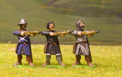 F20 Early Medieval: Assorted Heavy Crossbowmen, firing