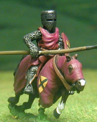F2 Early Medieval: Mounted Knight c.1205 in mail surcoat & helmet