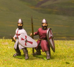 F42 Early Medieval: Assorted dismounted Sergeants with Kite Shields