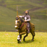 F9a Early Medieval: Mounted Sergeant with Mail Corselet & Round Shield