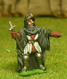 FAN18 Adventurer: Cleric in armour cloak, visored helmet and magic sword