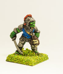 FAN34 Scaley Orc: Executioner with head of victim