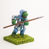 FAN47 Scaley Orc: Rabble, attacking with Spear