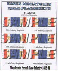 Flag 151 Napoleonic: French Line Infantry 1815 # 1