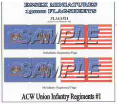 Flag 1521 American Civil War: Union Infantry #1