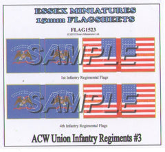Flag 1523 American Civil War: Union Infantry # 3