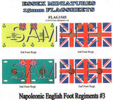 Flag 1545 Napoleonic: British Foot Regiments # 3