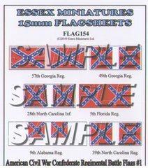 Flag 154 American Civil War: Confederate Regimental Battle Flags # 1