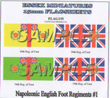 Flag 155 Napoleonic: English Foot Regiments # 1
