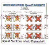 Flag 1570 Napoleonic: Spanish Infantry Regiments