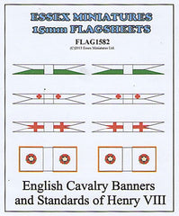 FLAG1582 English Cavalry Banners and Standards of Henry VIII