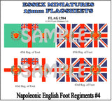 Flag 1584 Napoleonic: English Foot Regiments # 4