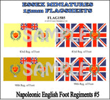 Flag 1585 Napoleonic: English Foot Regiments # 5