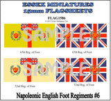 Flag 1586 Napoleonic: English Foot Regiments # 6
