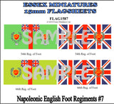 Flag 1587 Napoleonic: English Foot Regiments # 7