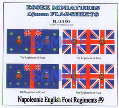 Flag 1589 Napoleonic: English Foot Regiments # 9
