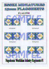 Flag 1590 Napoleonic: Westfalian Foot Regiments # 1
